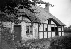 Thatched roof cottage of Izaak Walton by Mirrorpix