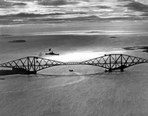 Royal Navy battleship passes Forth bridge by Mirrorpix