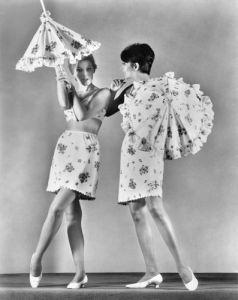 Two models wearing underwear, 1967 by Mirrorpix