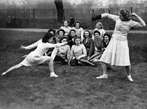 Kennington Park - girls of the NAAF, 1943 by Mirrorpix