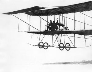 French aviator Henry Farman flying by Mirrorpix
