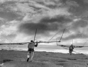 Salmon Fishers with their nets, 1943 by Mirrorpix