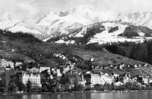 View of Montreux on Lake Geneva, 1959 by Mirrorpix