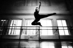 Young dancer at Newcastle's Dance City by Mirrorpix