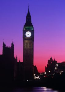 Big Ben at dusk London England by Mirrorpix