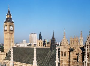 Big Ben and skyline, London by Mirrorpix