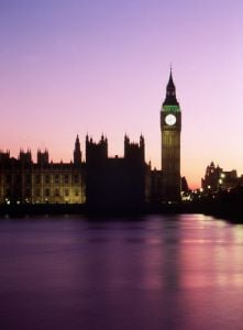 Big Ben at dusk, London by Mirrorpix