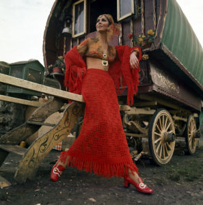 Model Liz Wiloughby as Gypsy, 1969 by Mirrorpix