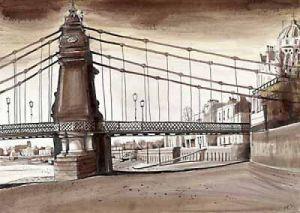 London Bridges - Hammersmith Bridge by Mark Raggett