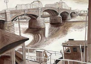 London Bridges - Battersea Bridge by Mark Raggett