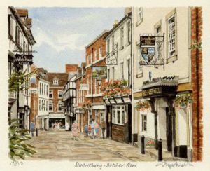 Shrewsbury - Butchers Row by Glyn Martin