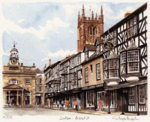 Ludlow - Broad Street by Glyn Martin