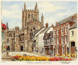 Hereford - Cathedral by Glyn Martin