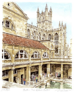 Bath - Roman Baths by Glyn Martin