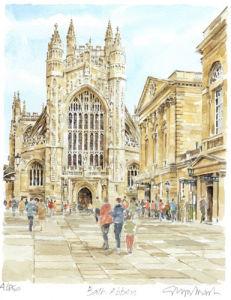Bath - Abbey - West Front by Glyn Martin