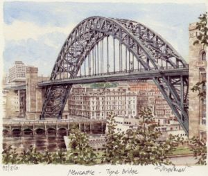 Newcastle - Tyne Bridge by Glyn Martin