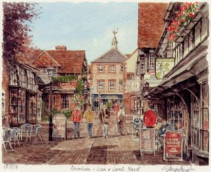 Farnham - Lion and Lamb Yard by Glyn Martin