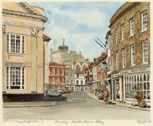 Romsey - Mkt. Place & Abbey by Philip Martin