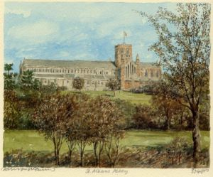 St. Albans Abbey by Philip Martin