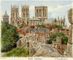 York Minster by Glyn Martin