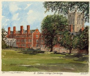 Cambridge - St. John's College by Philip Martin