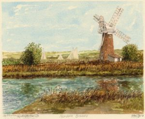 Norfolk Broads - R. Thurne by Philip Martin