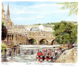 Bath - Pulteney Bridge by Glyn Martin