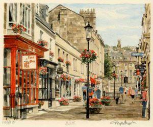 Bath - Street Scene by Glyn Martin