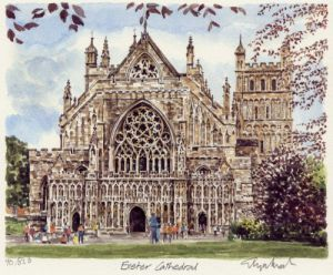 Exeter Cathedral by Glyn Martin