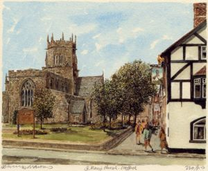 Stafford - St. Mary's Church by Philip Martin