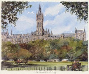 Glasgow - University by Philip Martin