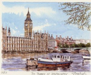 The Thames at Westminster by Glyn Martin
