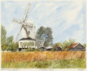 Saxtead Mill by Philip Martin