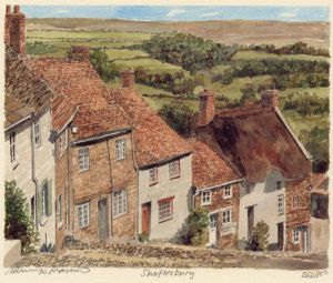 Shaftesbury - Gold Hill by Philip Martin