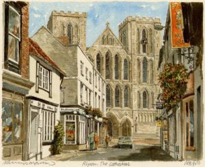 Ripon - Cathedral (landscape) by Philip Martin