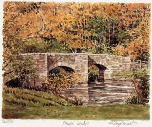 Fingle Bridge by Glyn Martin