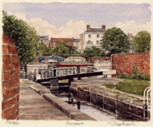 Stourport - Canal Scene by Philip Martin