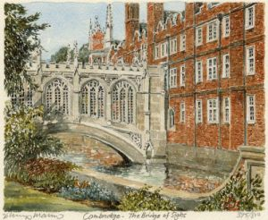 Cambridge - Bridge of Sighs by Philip Martin