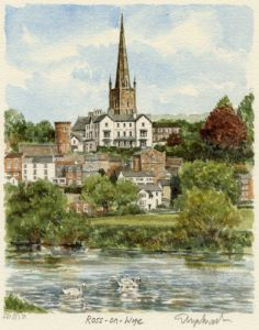 Ross-on-Wye (from River) by Glyn Martin