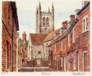 Farnham - Lower Church Lane by Glyn Martin