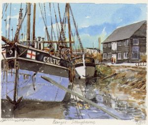 Sittingbourne - Barges by Philip Martin