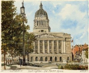 Nottingham - Old Market Square by Philip Martin