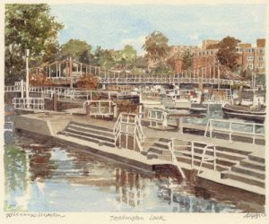 Teddington Lock by Philip Martin