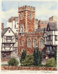 Exeter - St. Mary Steps by Glyn Martin