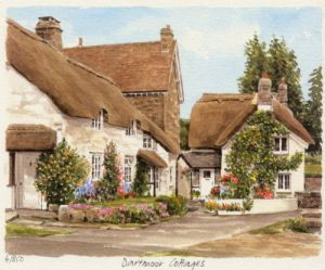 Dartmoor - thatched cottage by Glyn Martin