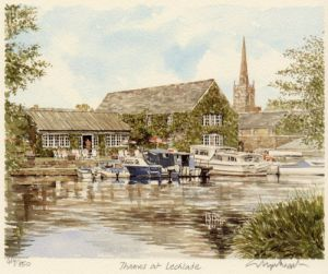 Lechlade from Thames by Glyn Martin