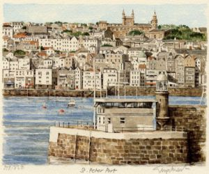 St. Peter Port - general view by Glyn Martin
