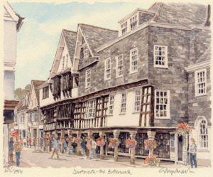 Dartmouth - Butterwalk by Glyn Martin