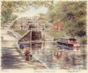 Bingley - Five Rise by Glyn Martin