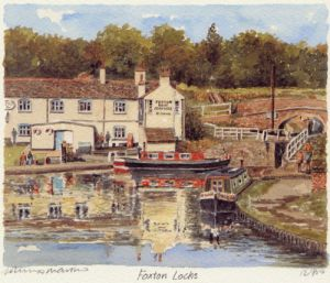 Foxton Locks by Philip Martin